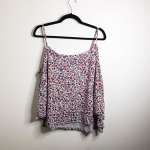 Gap floral double layered swing tank top